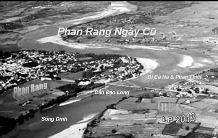 Thành phố Phan Rang ngày xưa nhìn từ trên máy bay.