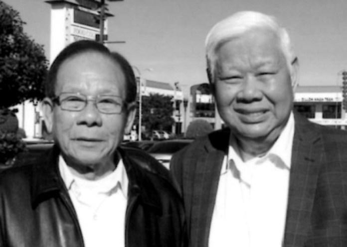 Từ trái Đại Tá Trương Đăng Liêm, Tân Tỉnh Trưởng Ninh Thuận và tác giả ho dac huan