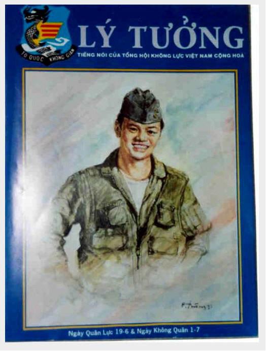 Hình bìa Nguyệt san Lý Tưởng của KQVNCH số ra ngay sau khi Đại úy Trần Thế Vinh gãy cánh tại Đông Hà